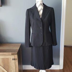 Tahari Pinstriped Skirt Set